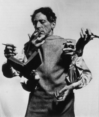 Руки Жана Кокто. Фото Филиппа Халсмана, 1948 г. © Jean Cocteau par Philippe Halsman