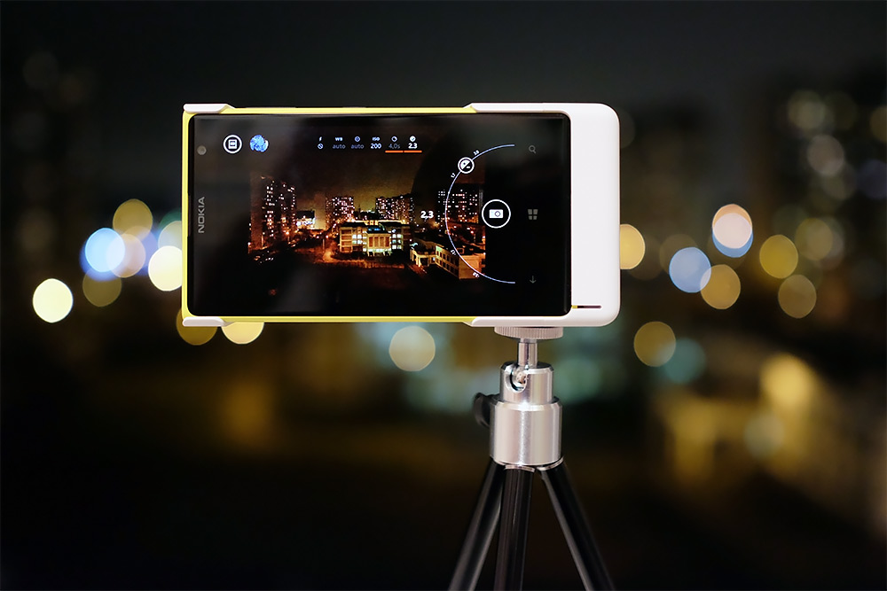 Ночная съёмка на смартфон Nokia Lumia 1020