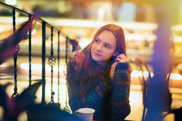 Как снимать портрет в кафе