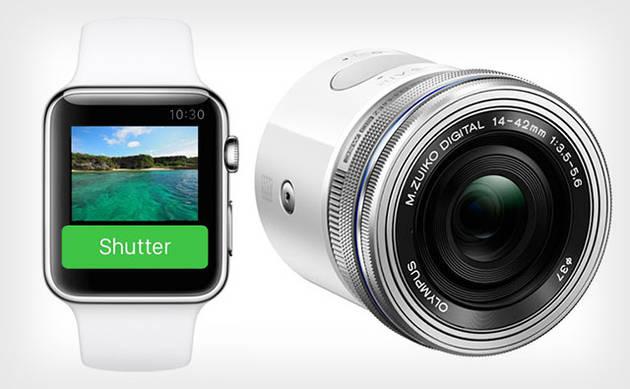 Дисплеем и пультом ДУ для Olympus Air могут работать часы Apple Watch