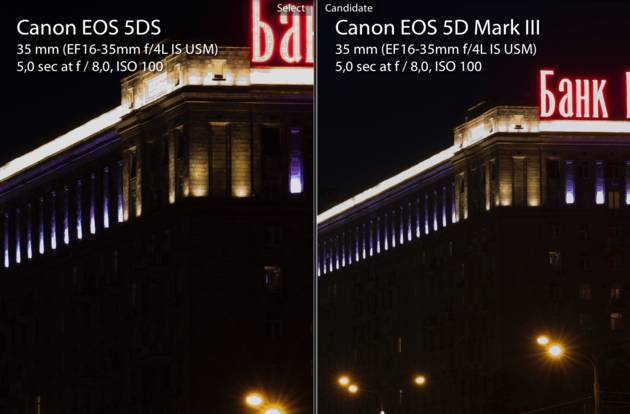 Сравнительный тест Canon EOS 5DS, Canon EOS 5DS R и Canon EOS 5D Mark III