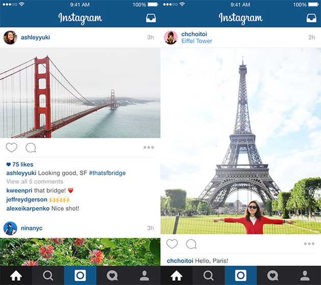 Instagram перестал быть только квадратным