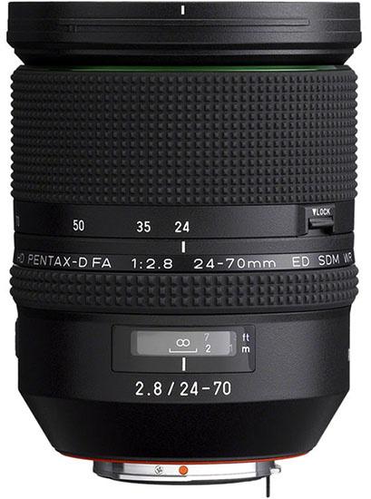 Объектив Pentax 24-70mm f/2.8 для полнокадровой зеркалки Pentax