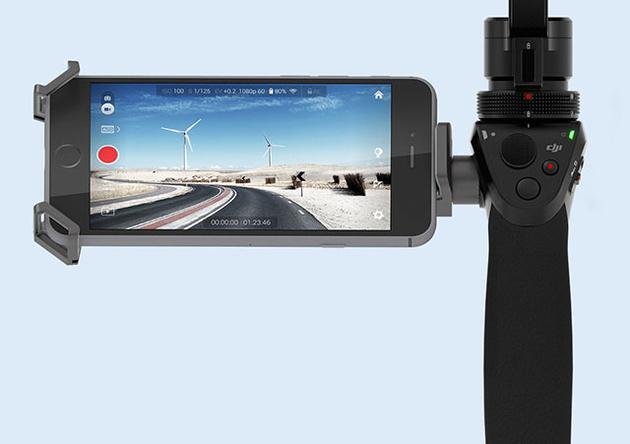 DJI Osmo – камера 12Мп/4К с трехосевым стабилизатором для съемки с рук
