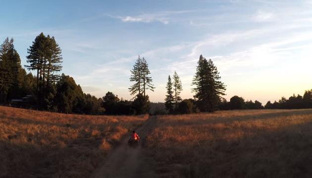 Первое видео с мультикоптера GoPro