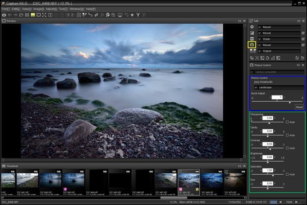 Обрабатываем пейзаж в Nikon Capture NX-D