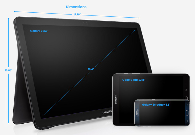 Планшет Samsung Galaxy View с диагональю 18,4 дюйма