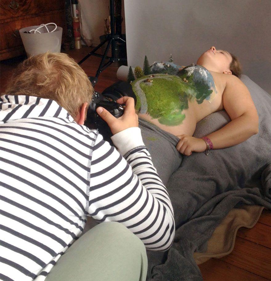Необычные беременные фото