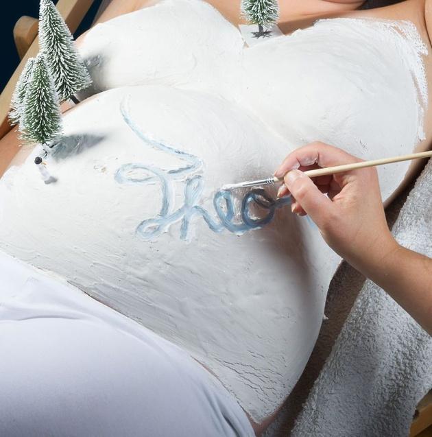 Беременная фотосессия: креатив 80lvl