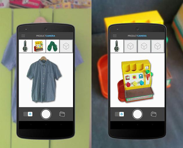 Приложение Product Camera создает белый фон вокруг снимаемых объектов
