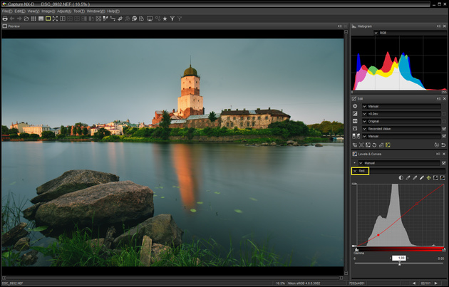 Коррекция RAW c помощью кривых на примере Nikon Capture NX-D