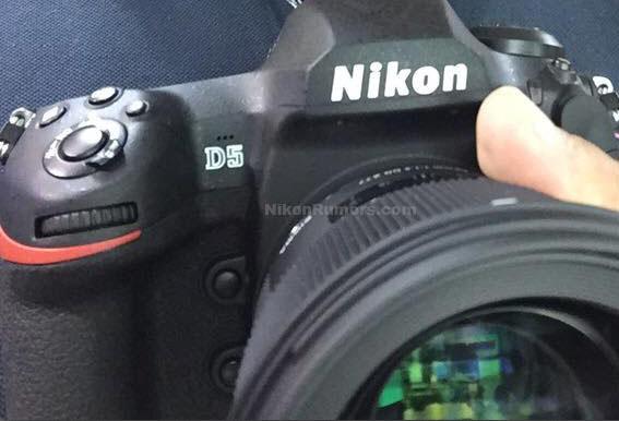 Просочились слухи о Nikon D5 – первые снимки внешнего вида, 153 точки АФ, ISO102400
