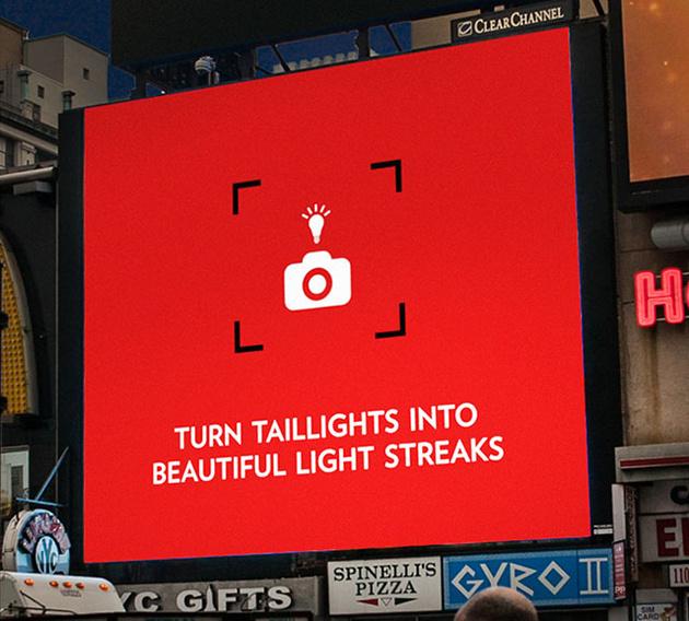 Уличные рекламные щиты Canon дают актуальные сиюминутные советы по фотосъемке