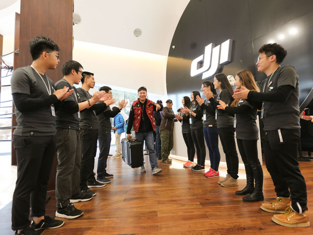 Компания DJI открыла флагманский розничный магазин по продаже мультикоптеров
