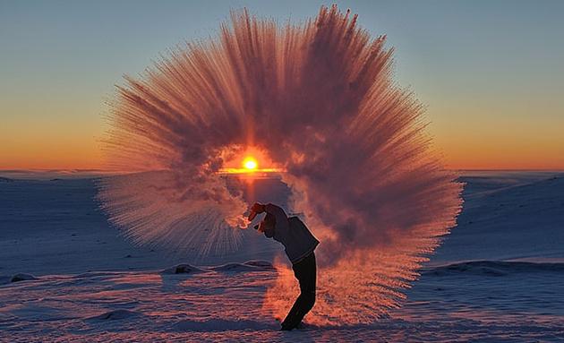 Чай на морозе. Удивительное фото Майкла Дэвиса