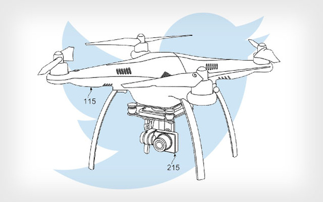 Twitter запатентовал дрон, которому можно давать команды твитами