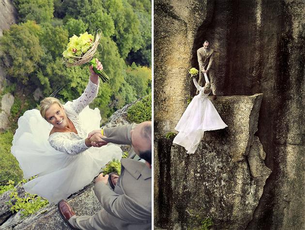 Головокружительная свадебная фотография