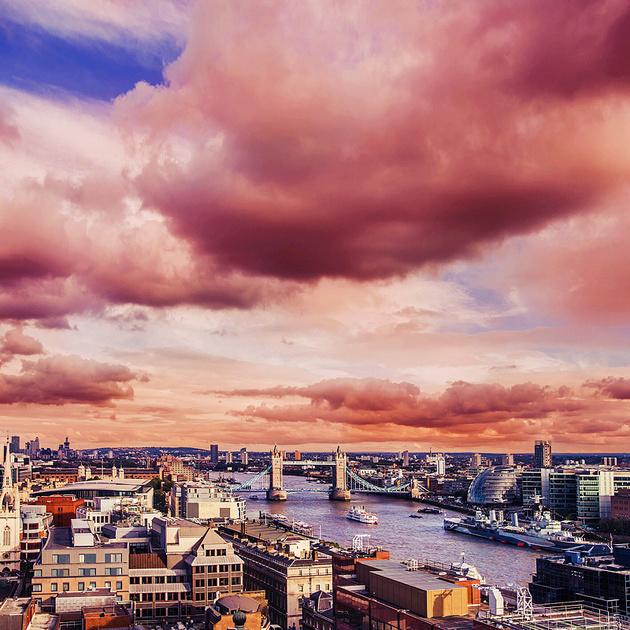Лондон под цветущей магнолией