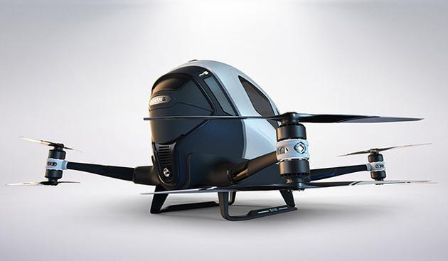 Ehang 184 – дрон, в который поместится и камера, и вы сами