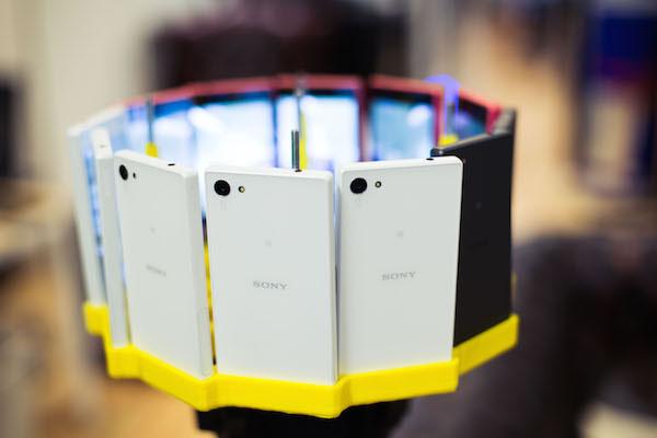 Съемка круговых панорам в 48К с помощью 12 смартфонов Sony Xperia Z5