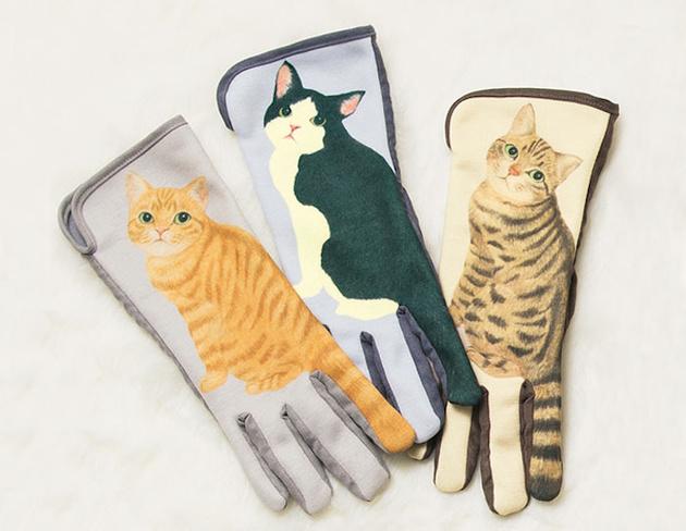 Перчатки для сенсорных экранов – с кошечками, которые виляют хвостиком