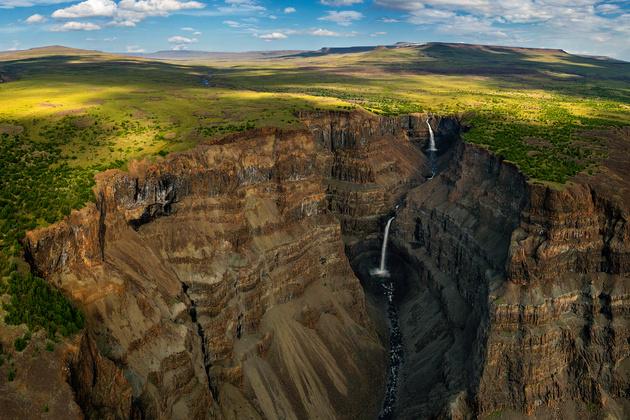 Водопады плато Путорана
