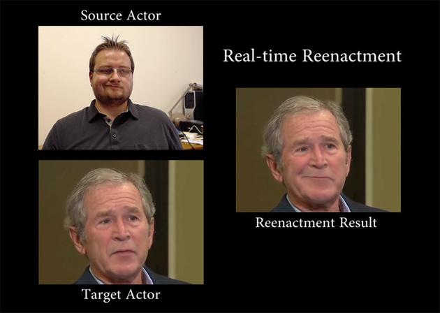 Пугающая технология подмены лиц и управления ими в реальном времени