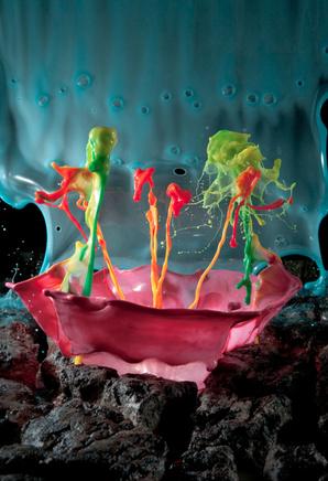 Картины из жидкости Джека Лонга