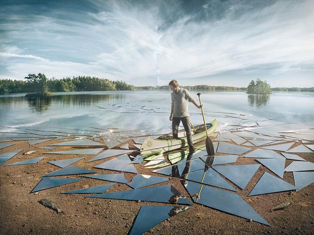 17 квадратных метров разбитого зеркала для одного кадра
