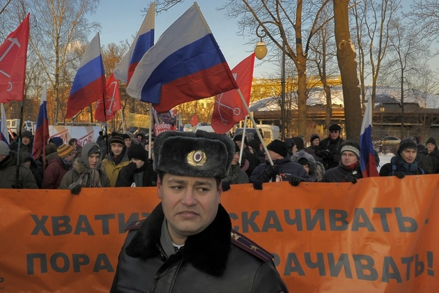 Александр Петросян. История одного кадра: на разрешённом митинге