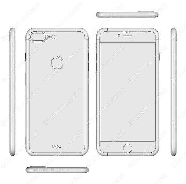 Новый рендер Apple iPhone 7 подтверждает отсутствие выхода для наушников и гарнитуры