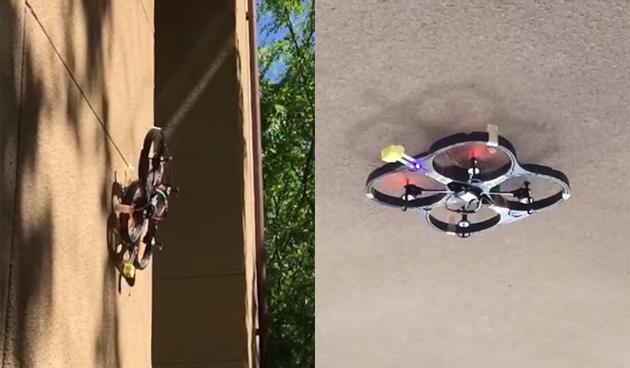 Создан дрон, который садится на стены и потолок, цепляясь как насекомое