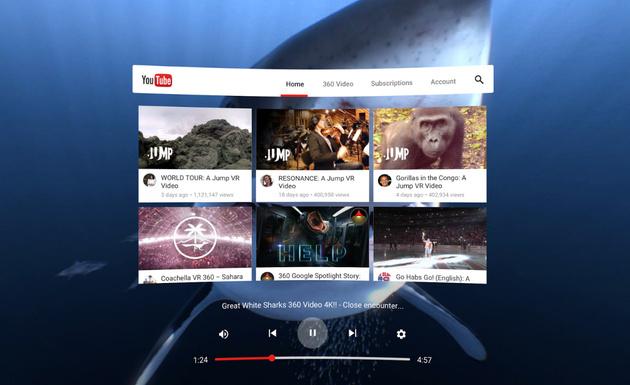 Анонсировано приложение YouTube VR