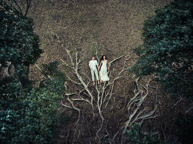 Романтика 80lvl. Свадебные фотографии, сделанные с дрона