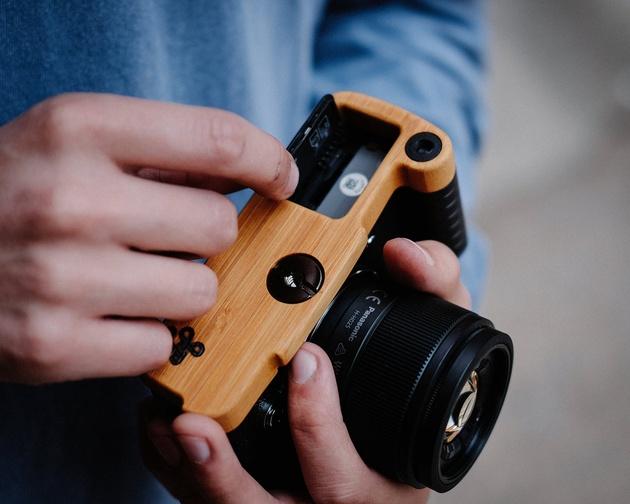 Стильные деревянные рукоятки для камеры Olympus PEN-F