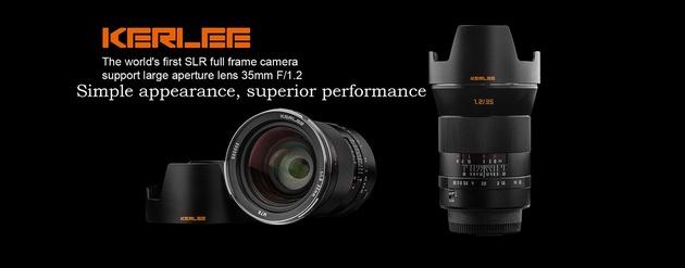 Светосильный объектив Kerlee 35mm F1.2 для полнокадровых камер