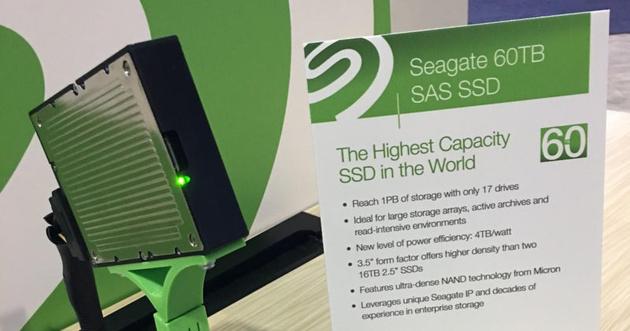 Рекордно емкий твердотельный накопитель Seagate 60TB выходит на профессиональный рынок