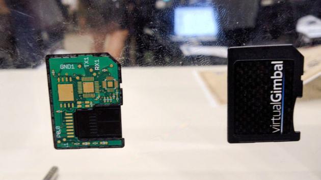 Карта памяти SD со встроенными гиродатчиками – для последующей стабилизации отснятого видео