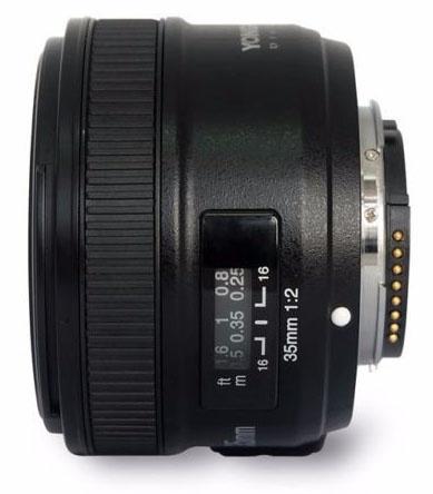 Объектив Yongnuo 35mm f/2 для Nikon F за $95