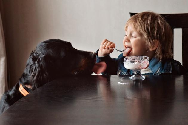 Cъёмка детей с животными