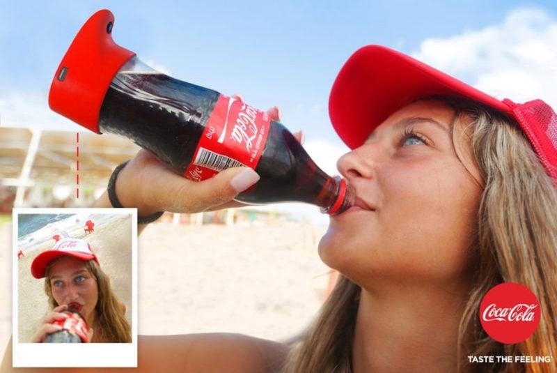 Coca-Cola создала неповторимую селфи-бутылку