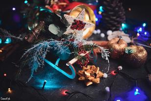 Фотооткрытка: новогодний натюрморт своими руками