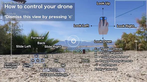 Cape – летайте на реальных дронах, управляя ими дистанционно через интернет