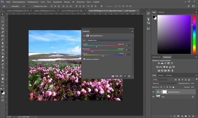 Цветокоррекция в Фотошопе: 5 способов сделать коррекцию цвета / Фотообработка в Photoshop / Уроки фотографии