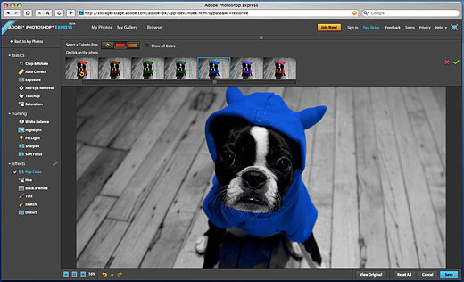 Adobe Photoshop Express Beta