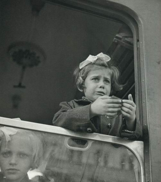 Werner Bishof, Girl at the train window Budapest, Hungary, 1947