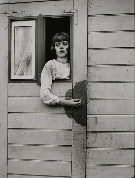 August Sander, Young Girl in Circus Caravan, 1926
