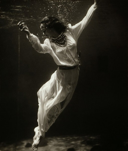 Dolphin Tank, Marineland, Florida, by Toni Frissell, Vogue, 1939