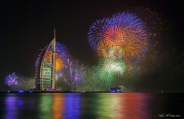 Dubai 2014 Happy New year © Dalia Al Ameen. Дубаи, ОАЭ