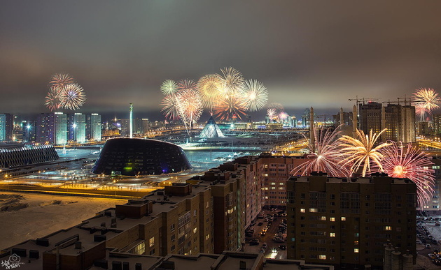 Welcome the new year (Astana/Kazakhstan) © Bilal Arslan. Астана, Казахстан